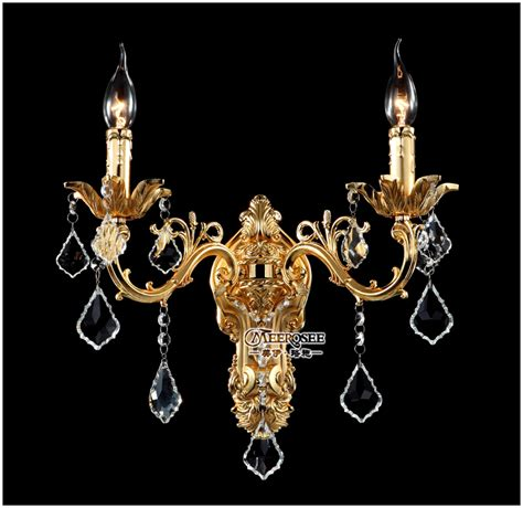Aliexpress Com Buy Wholesale Golden Crystal Wall Light Chandelier Wall