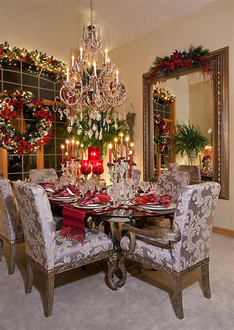 christmas decor mediterranean dining room chicago