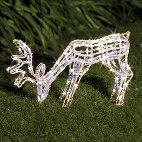 lytworx 120 led solar white grazing reindeer light