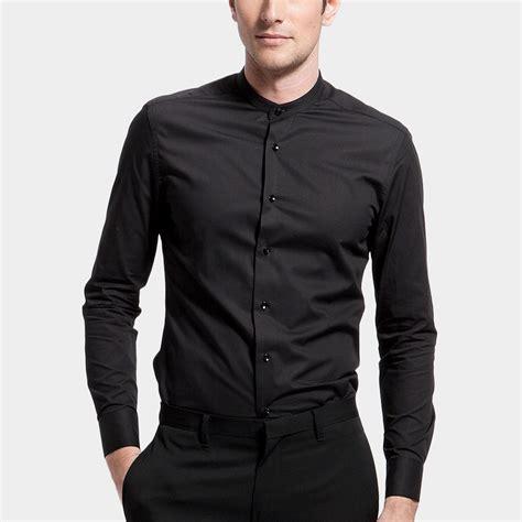 Mao Dress mao collar dress shirt black xs basique touch of