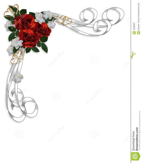 Invitation Letter Border wedding invitation roses border stock illustration image 10208397