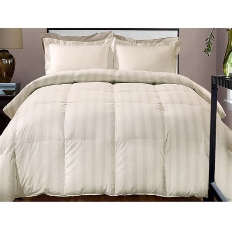 the best down alternative comforter hotel grand damask stripe 800 thread count cotton rich