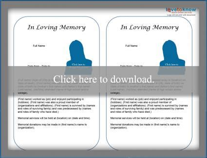 funeral biography template free obituary templates lovetoknow
