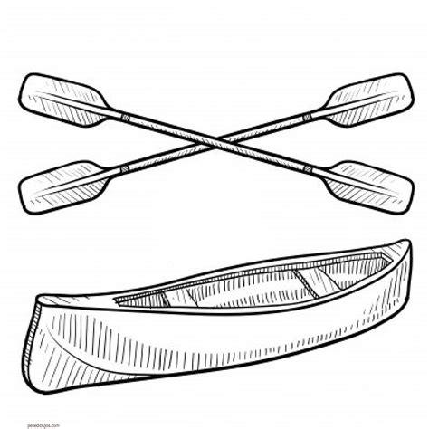 how to draw a boat paddle dibujos de canoas para colorear