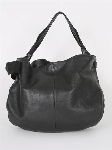 Miss Vara salvatore ferragamo miss vara bow leather hobo bag black