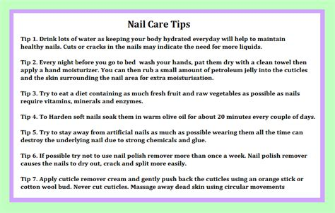 Nail Care Tips by Nail Care Tips By Decembergirl2011 On Deviantart