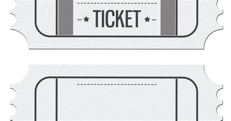 ticket place card template blank ticket invitation template place