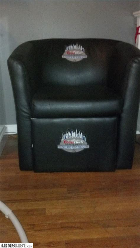 coors light cooler chair armslist for sale trade coors light leather chair built