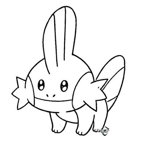 mudkip coloring pages coloring pages
