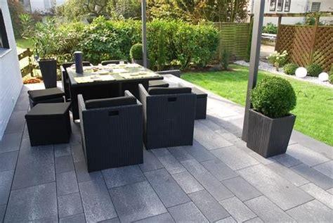 garten ratingen moderne terrasse aus linaro pflaster und allesio stufen in