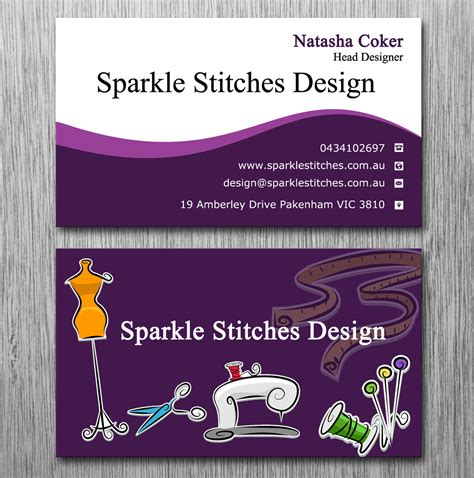 Embroidery Business Cards