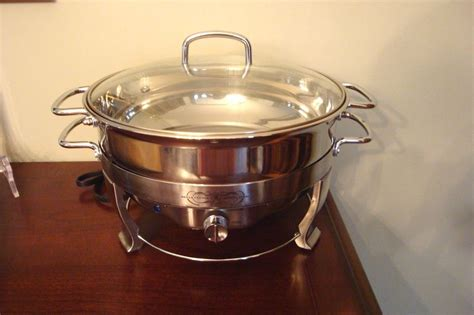Bell Chafing Dish cucina 5 quart stainless steel electric chafing dish new ebay