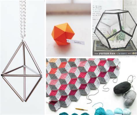 diy geometric decor  craft ideas  crafty blog