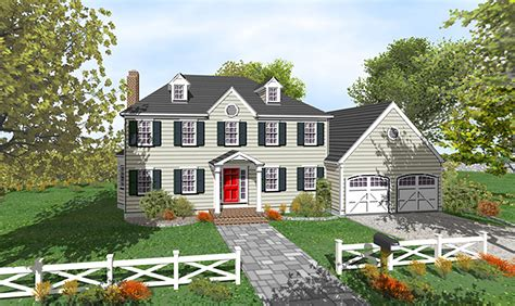2 story traditional house plans two story colonial with open floor plan 9551dm 2nd floor master suite colonial den office