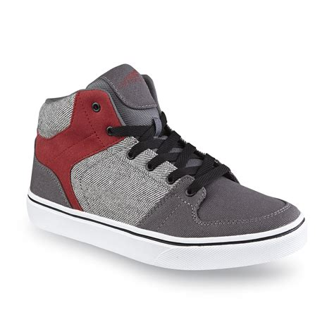 kmart basketball shoes catapult s rookie gray houndstooth high top