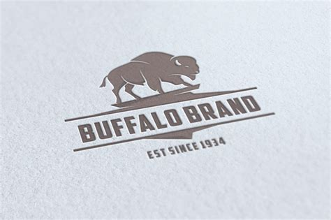 buffalo brand logo logo templates on creative market