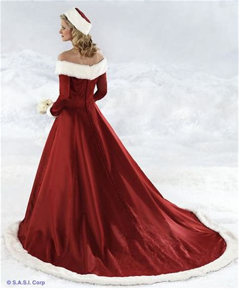 red and wedding dress designs for christmas day
