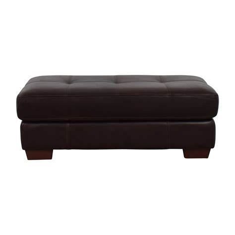 dark brown leather ottoman 80 off chateau d ax chateau d ax phoenix cocktail dark