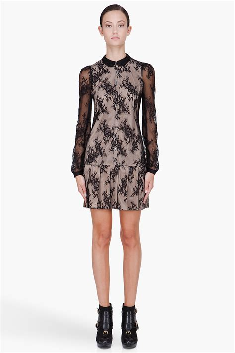 Mcqueens Mcq Lace Insert Evening Gown by Mcq Lace Dress In Black Lyst