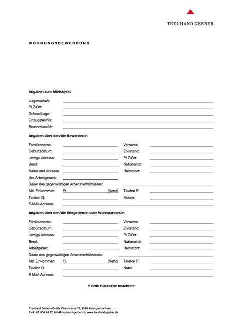 Bewerbung Wohnung Formular Fragebogen Zur Wohnungsbewerbung Kitzbhel Bewerbung