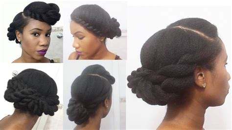 roller tuck hair style for nature hair 3 twisted roll tuck pin natural hairstyles youtube