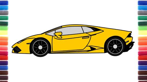 lamborghini sketch side view how to draw a car lamborghini huracan side view by