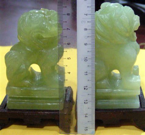 Harga Sepasang Fosil Kayu sepasang batu jed diukir haiwan singa