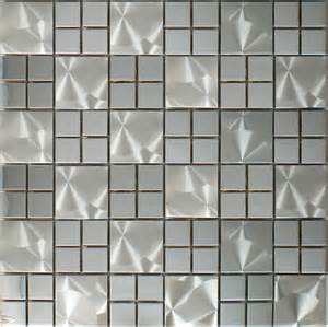silver metallic mosaic wall tile smmt058 stainless steel