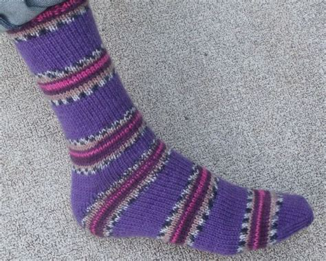 knitted slippers pattern with two needles easy two needle socks socks free pattern