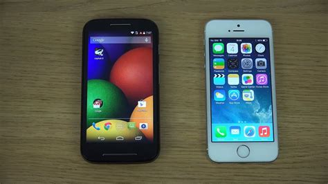 E Iphone 5s by Motorola Moto E Vs Iphone 5s Review
