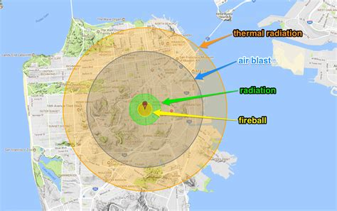 nukemap by alex wellerstein this nuclear explosion simulator shows where radioactive