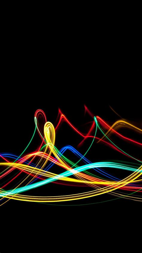 colorful neon lines iphone   wallpaper hd