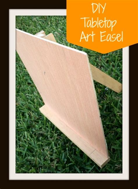 diy how to build a tabletop easel plans free