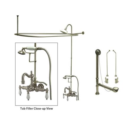 curtain rod conversion kit clawfoot tub shower conversion kit the benefit is when