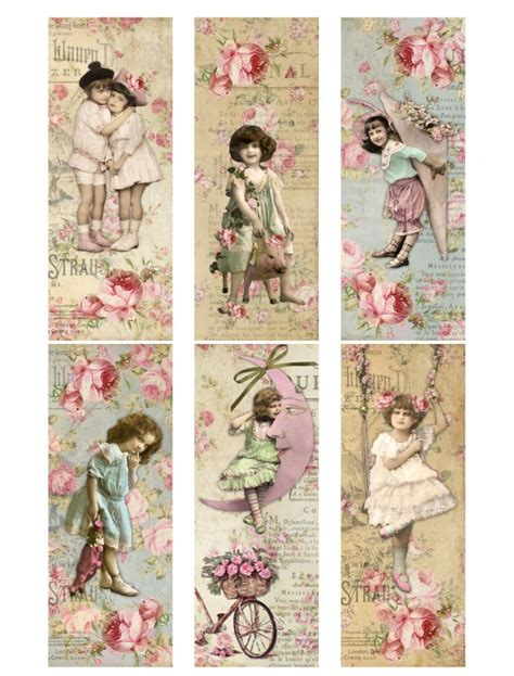 printable bookmarks vintage vintage printable shabby chic labels vintage printables