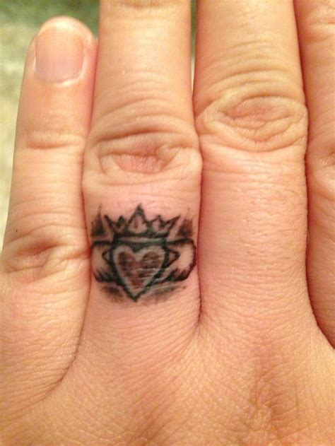 new claddagh ring tattoo turned out amazing tattoo ideas