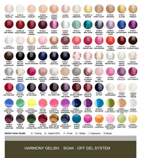 gelish color chart harmony gelish gel nail any 8 colors and you