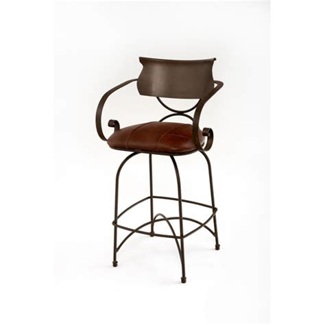 dining room bar stools steel traditions toulon swivel barstool with leather