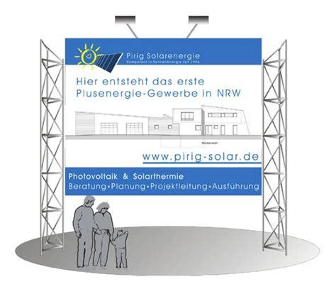 Bauschild Online Gestalten by Corporate Design Bauschild Pirig Solarenergie Si