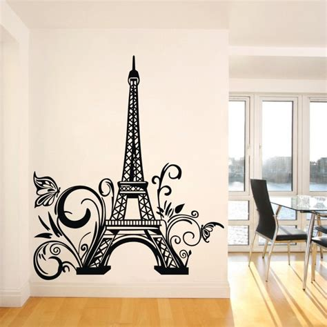 eiffel tower bedroom decor paris eiffel tower wall sticker removable wall decal art