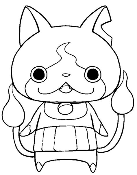yo kai watch coloring page coloriage yo kai watch jibanyan 1