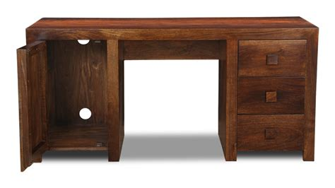 Large Work Desk Wooden Dakota Mango Office Desk From The Study Furniture Range