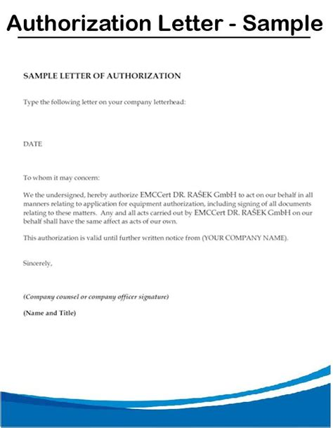 authorization letter sample format school house rent