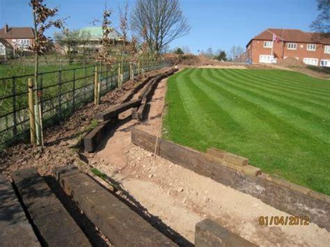 Railway Sleeper Garden Edging by Paths Edging With Used Railway Sleepers