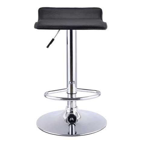 Set Of 3 Backless Bar Stools by Set Of 2 Swivel Bar Stools Adjustable Pu Leather Backless