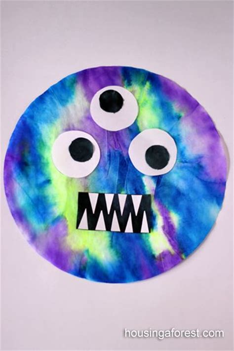Crafts With Paper And Markers - coffee filters markers and monsters on