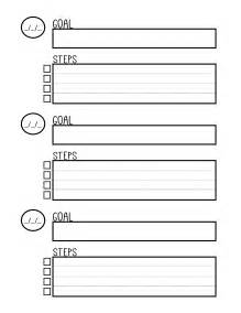 Goal Setting Worksheet Template by Free Printable Goal Setting Worksheet Planner The