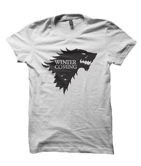 Tshirt Winter Is Coming I redwolf of thrones winter is coming t shirt buy