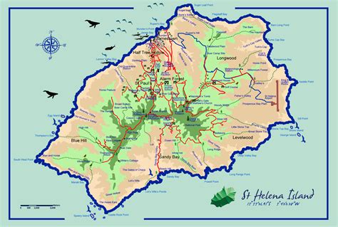 st tourist map large scale tourist map of st helena island st helena