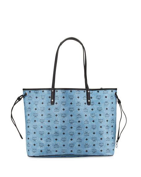 Tote Shopper Bag Denim Tote Bag Original mcm large reversible shopper tote bag denim